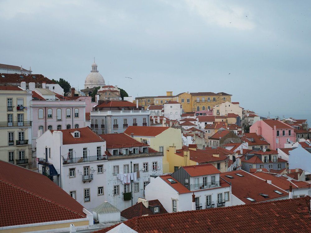 Lisbon as seen from Portos do Sol