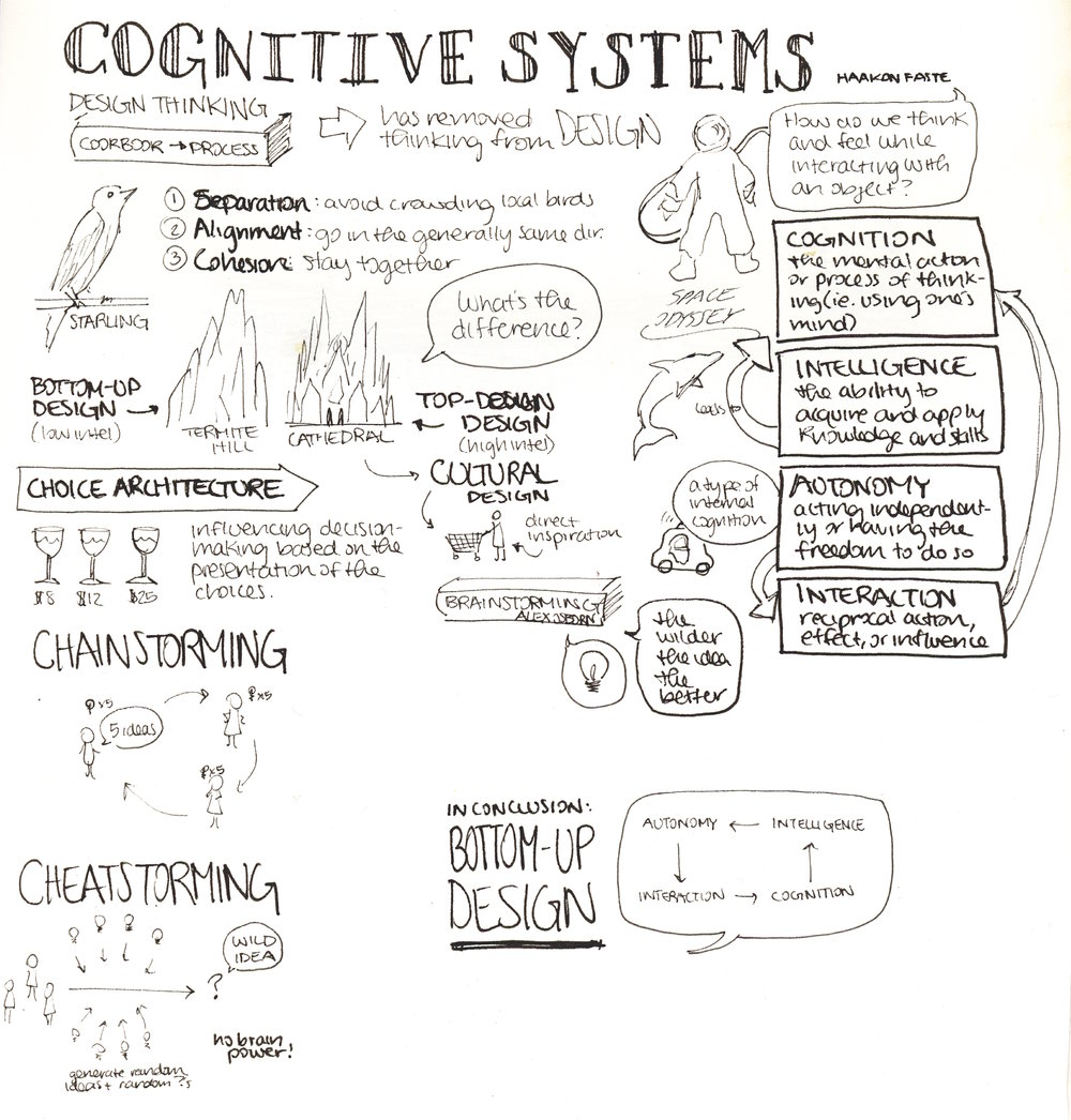 Cognitive Systems. Lecture by Haakon Faste ( recordi  ng ).  Key idea: 'Cheatstorming'