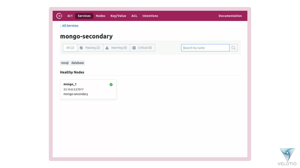 MongoDB Secondary instance set is now left with only one service instance