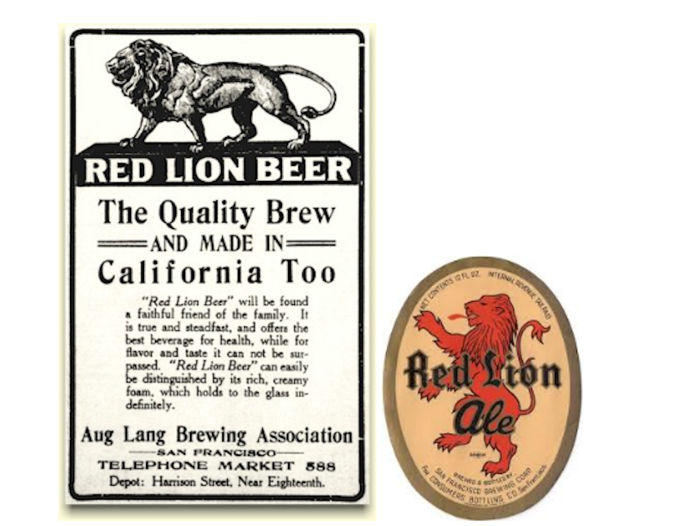 1912 ad. Photo: Brewery Gems, 1938 Label. Photo: Tavern Trove