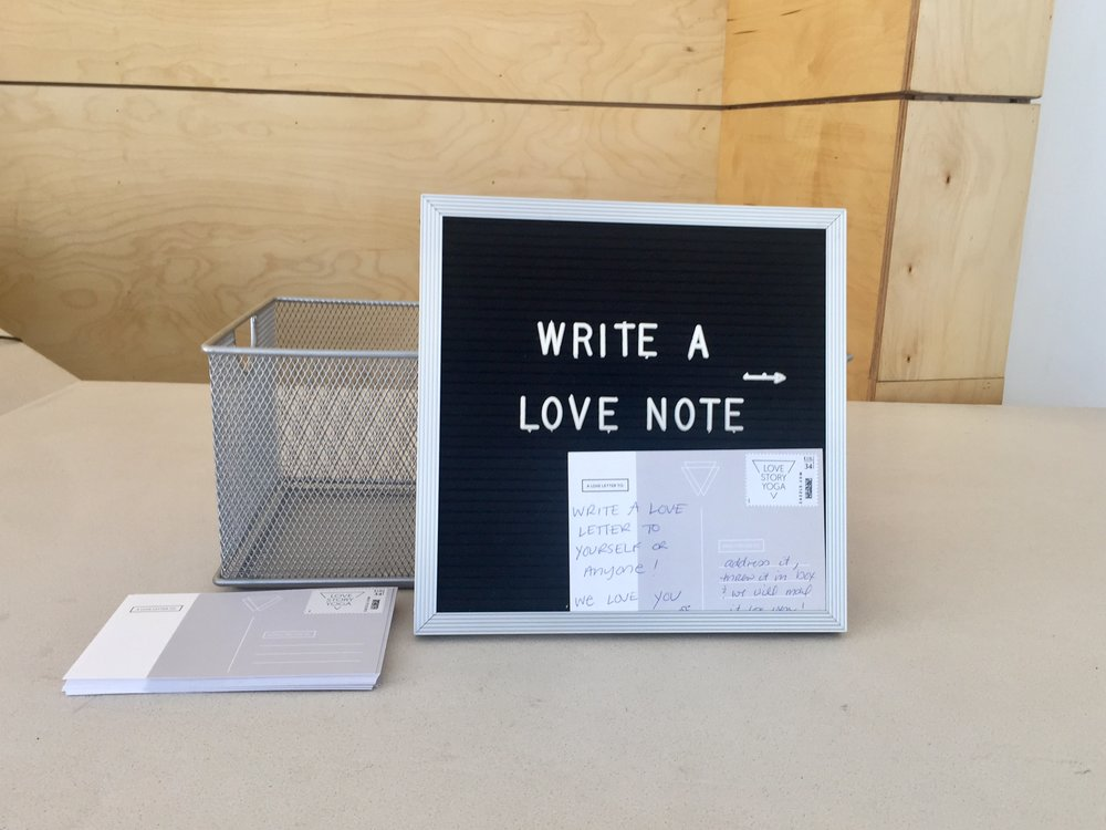A love letter station.