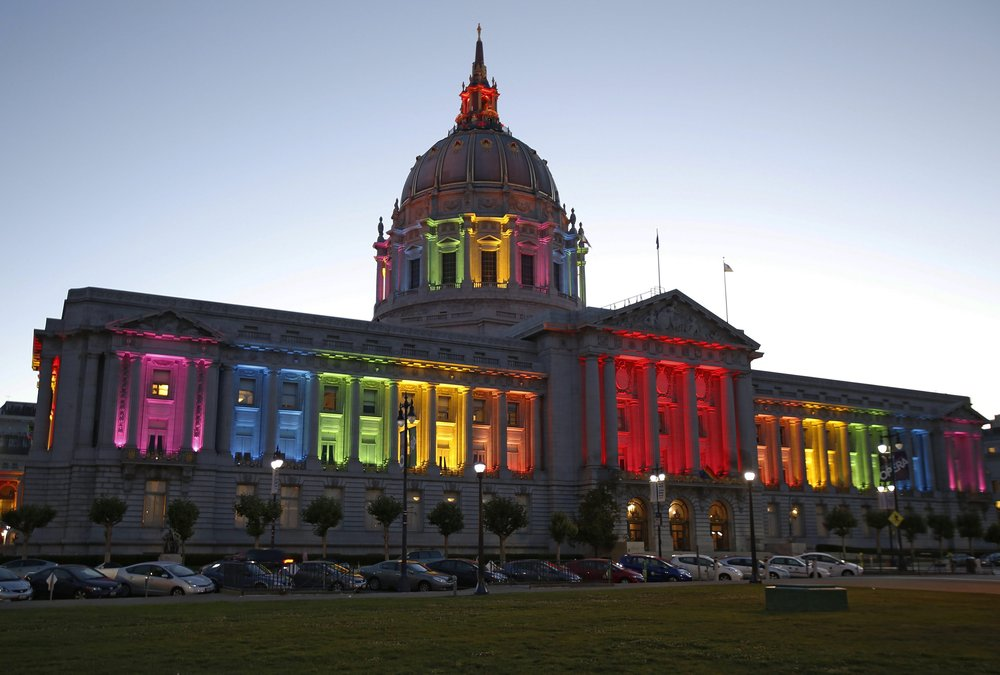 San Francisco City Hall Gorgeous Rainbow Lights