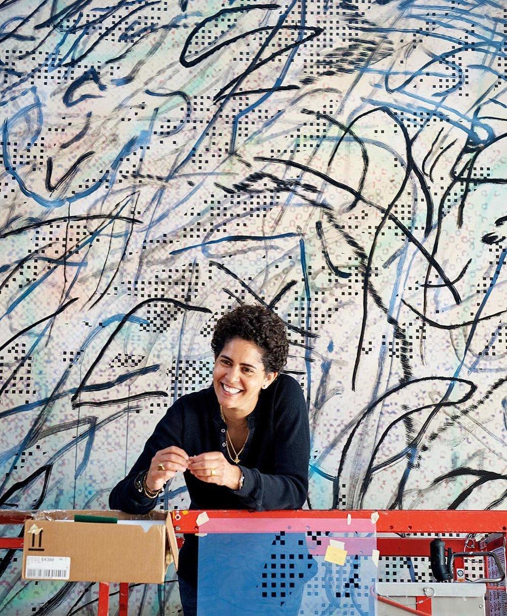 Photo of Julie Mehretu, photo via SFMOMA's Instagram.