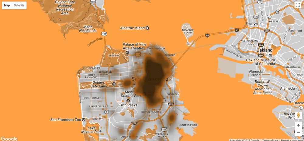 "The ""heat"" map version of Human Wastelane"