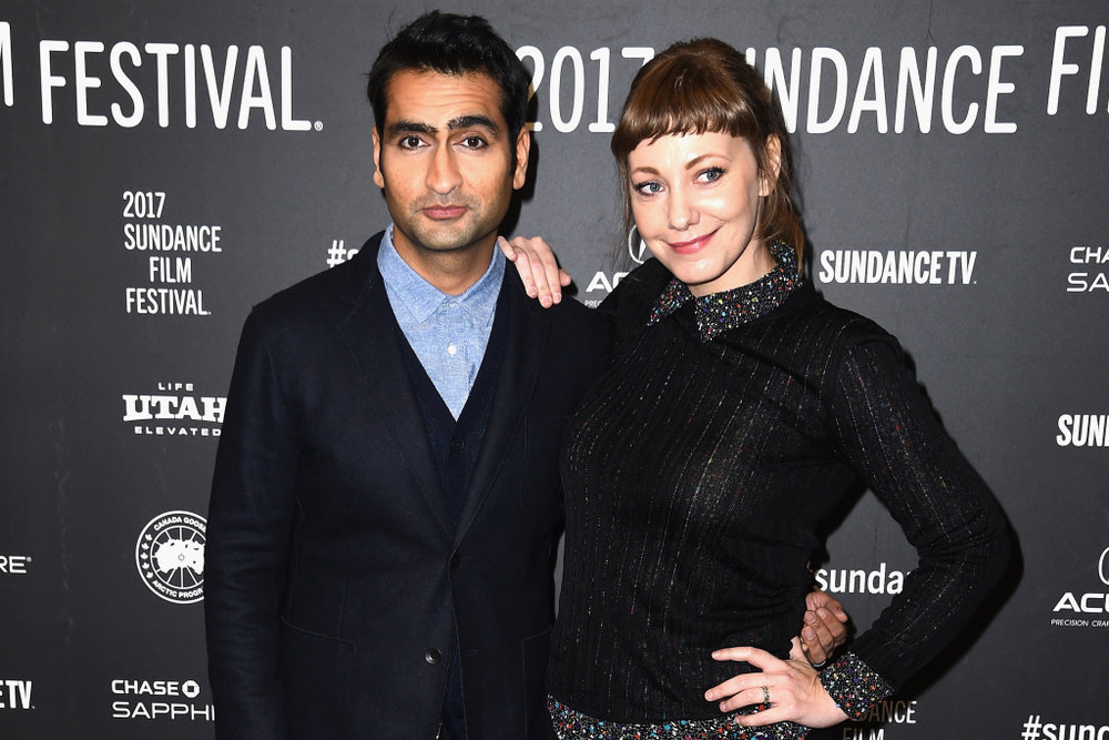 "Actor Kumail Nanjiani and Emily Gordon of ""The Big Sick"""