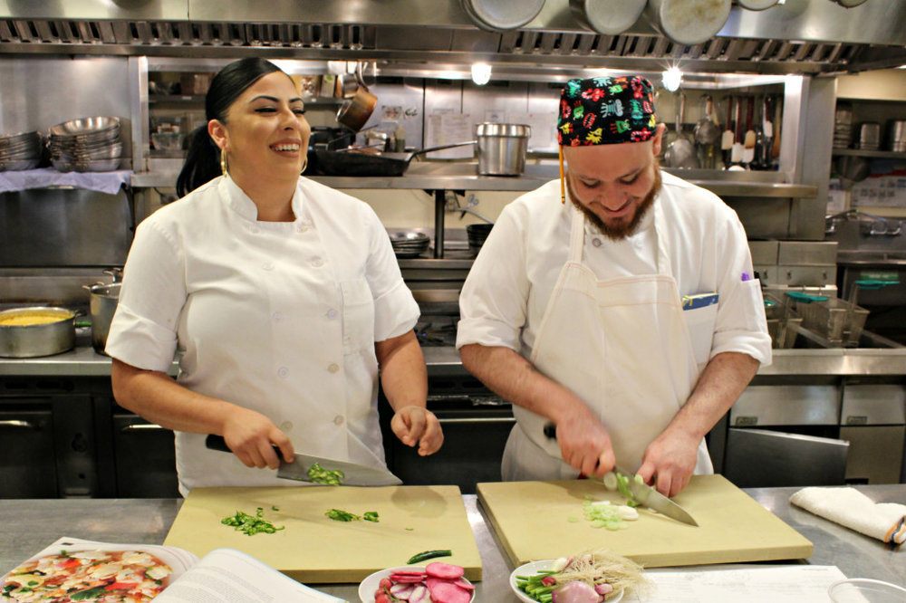 Chefs Christinne and Carlos at the helm. Photo via Jardiniere.
