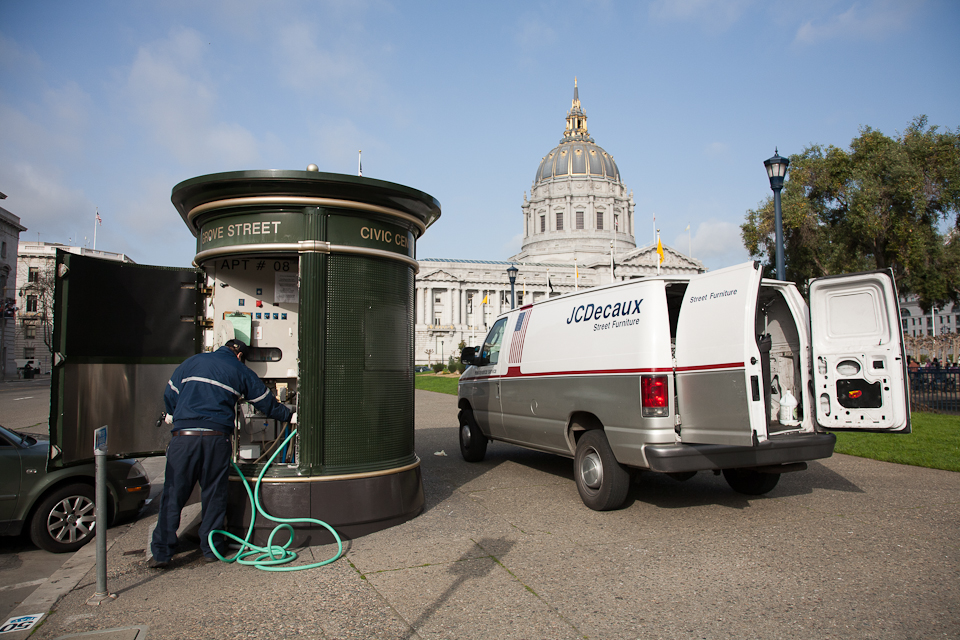 The soon-to-be-replaced bathroom units. Photo via San Francisco Department of Public Works