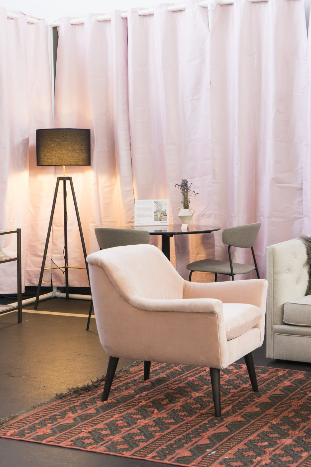 Featuring the  Embers Rugs , Murphy Chair & Ottoman , and  the Crocus Floor Lamp.