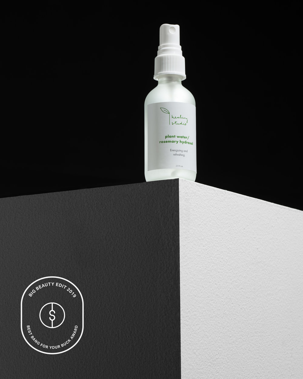 Healing StudioRosemary Hydrosol Spray - In 2019, consumers demanded they know where their products were made, sourced, and how clean they were in comparison to products of yesteryear, so when April Banker of Healing Studio started her little witches cove—she created a small yet mighty line of botanical essentials. The steam distilled hydrosol water is made from organic rosemary leaves and flowers. Handpicked, harvested, and sourced from Jellicles Farm in Sunol, CA which Healing Studio has a close relationship with. We use this spray as a toner day and/or night or to refresh make-up throughout the day. Spray on.// Healing Studio, Rosemary Hydrosol Spray, $24
