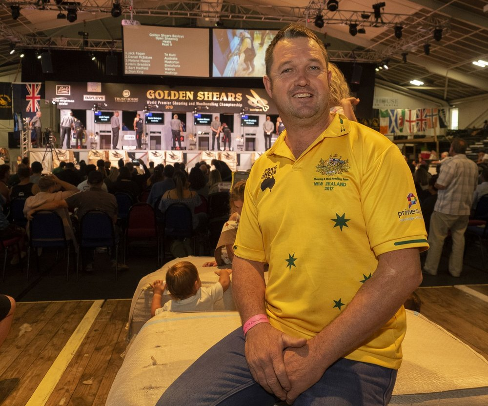 Long-serving Australian representative Jason Wingfield takes over the mantle of leader as his team targets another win against New Zealand at the Golden Shears in Masterton tomorrow(March2).  PHOTO/Pete Nikolaison, Golden Shears.
