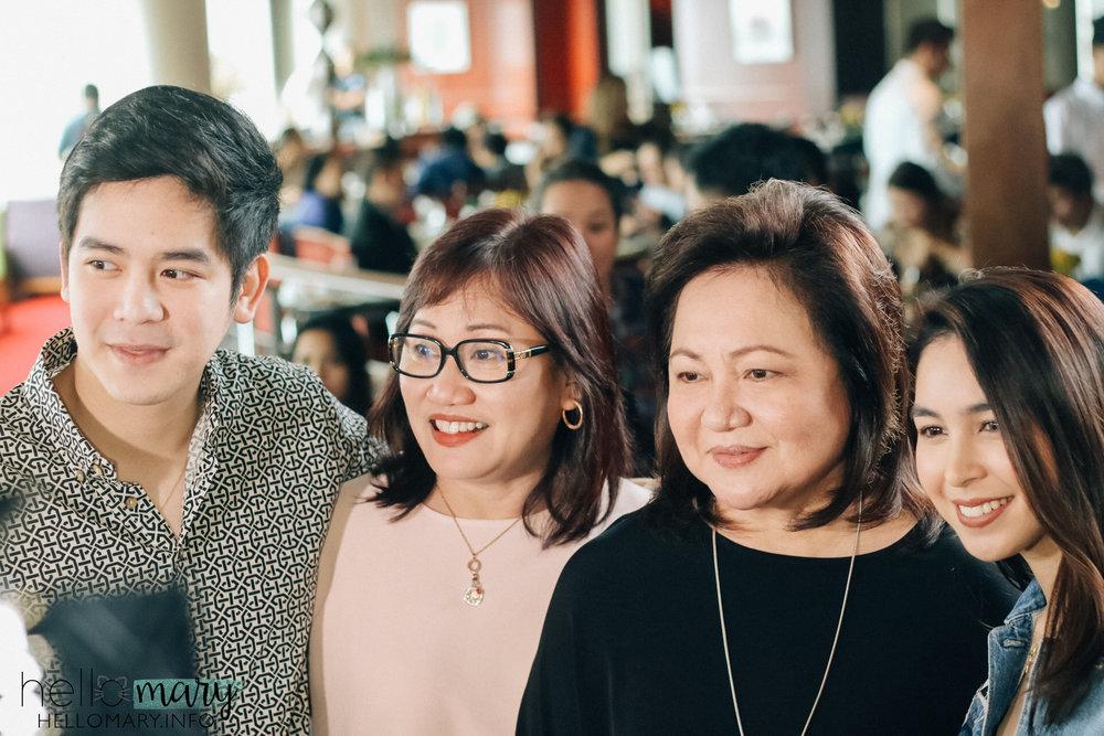 Joshua, Inang, Tita Malou, Julia