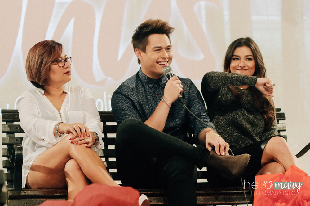 Liza doesn't agree with you, Quen. HAHA! So cute.