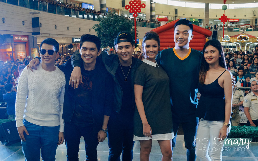 The cast (L-R): Timothy Ancheta, Kaiser Boado, Enrique Gil, Liza Soberano, Ryan Bang, Karen Reyes