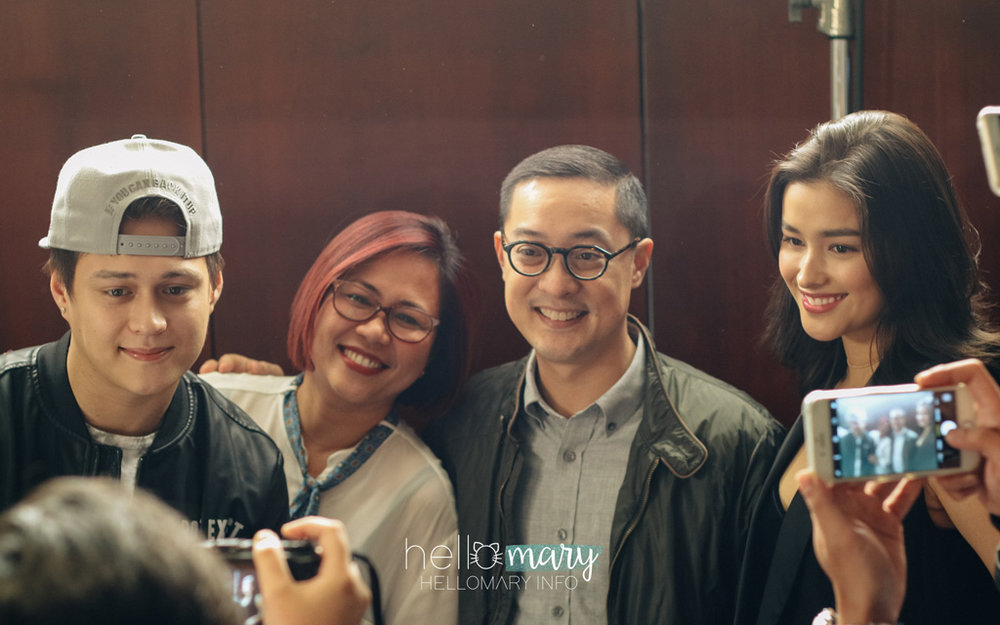 Direk Cathy, Quen and Liza with ABS-CBN President Carlo Katigbak