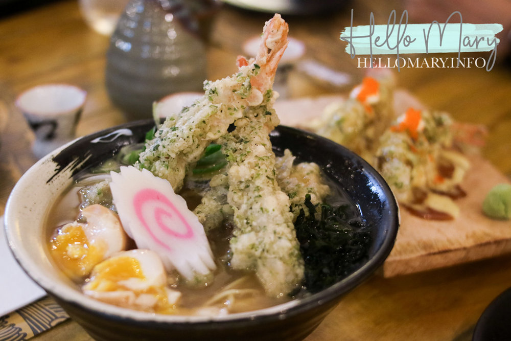 Tempura Ramen - Shoyu broth with ebi and mixed vegetable tempura. P265