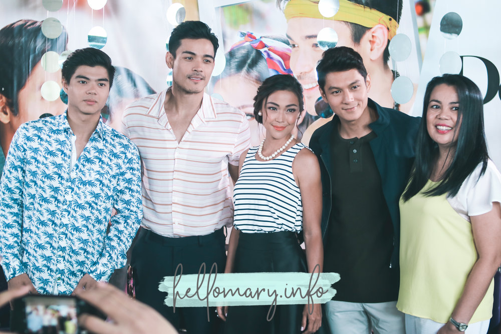 (From L-R) Paul Salas, Xian Lim, Jodi Sta. Maria, Joseph Marco, and Direk Roni Velasco