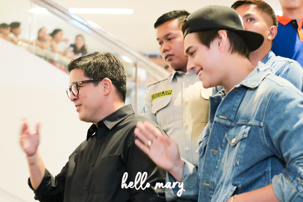 Aga Muhlach and Enrique Gil arrive at SM City East Ortigas