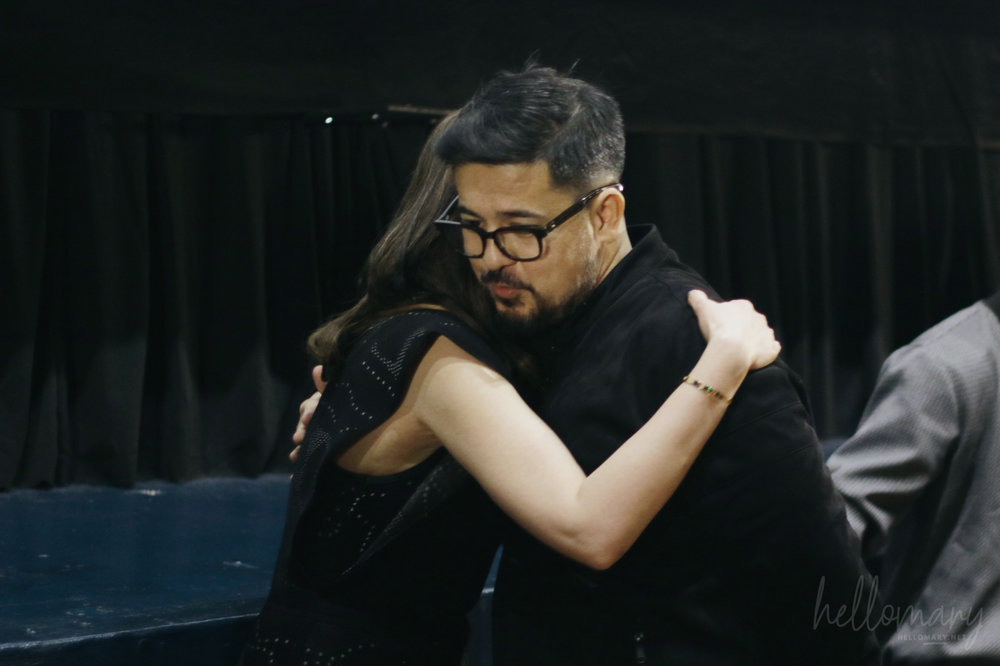 Aga and Bea share a hug before the screening