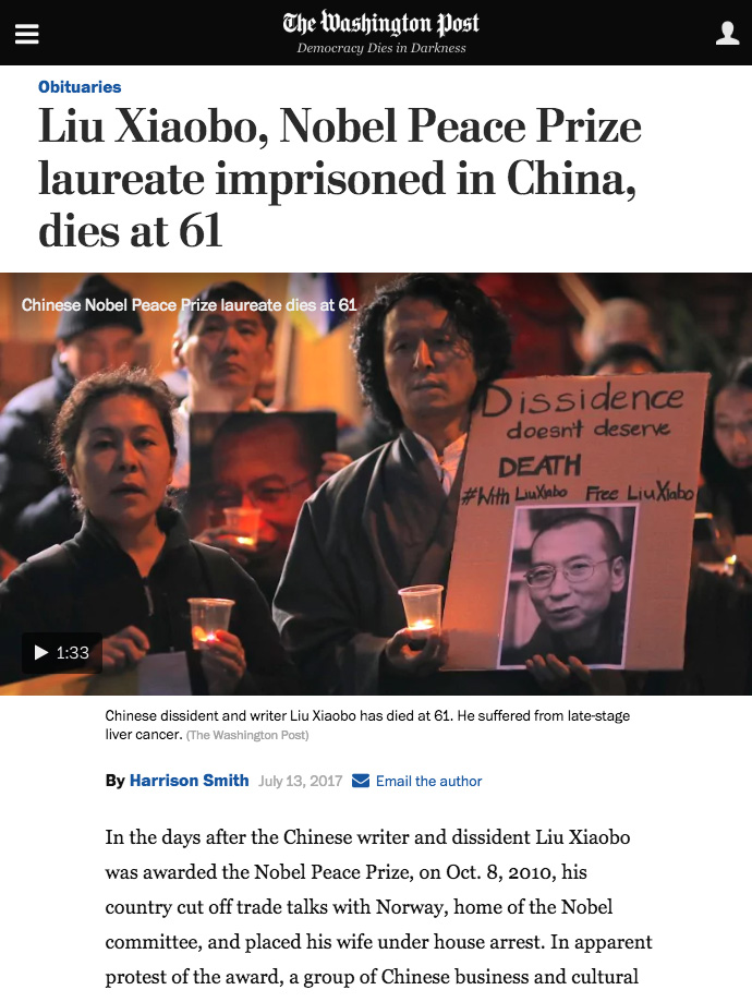 Chinas Nobel Peace Prize laureate Liu Xiaobo dies at 61   The Washington Post.jpg