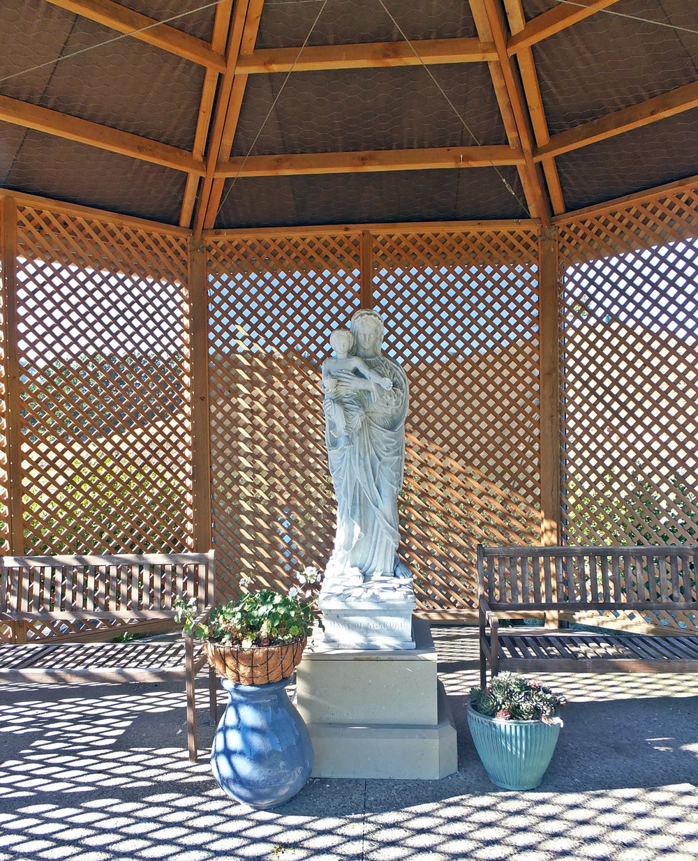 Our Lady of Ngakuru in her shrine at the Monastery