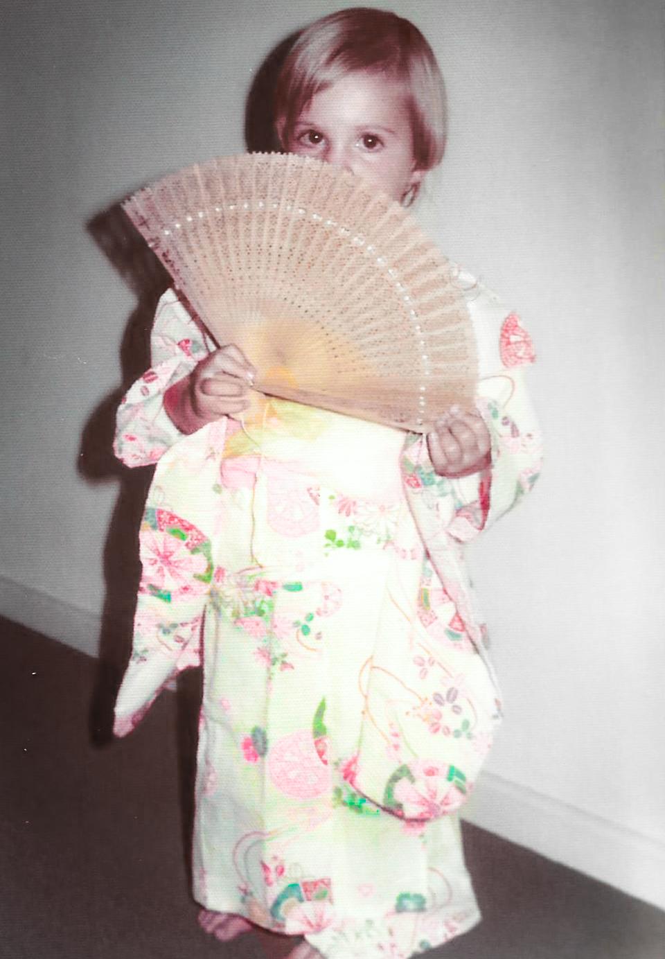 My sister Jane in her new kimono - circa 1979