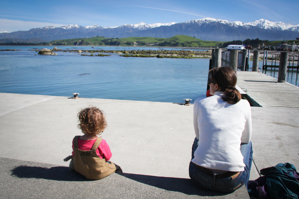 Waiting to go whale watching in Kaikoura.