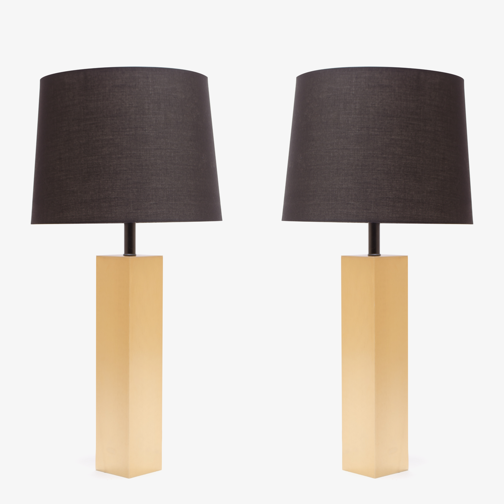 Minimalist Brushed Brass Lamps
