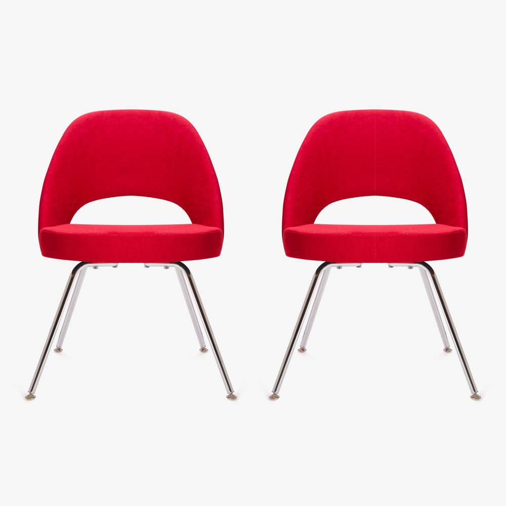 Saarinen Executive Armless Chair in Fire Red, Pair (1 of 1)2.jpg