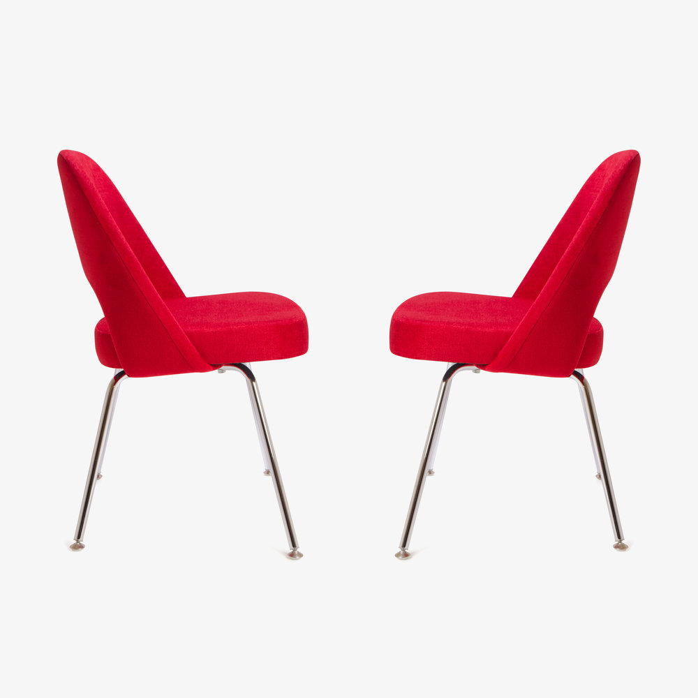 Saarinen Executive Armless Chair in Fire Red, Pair (1 of 1)3.jpg