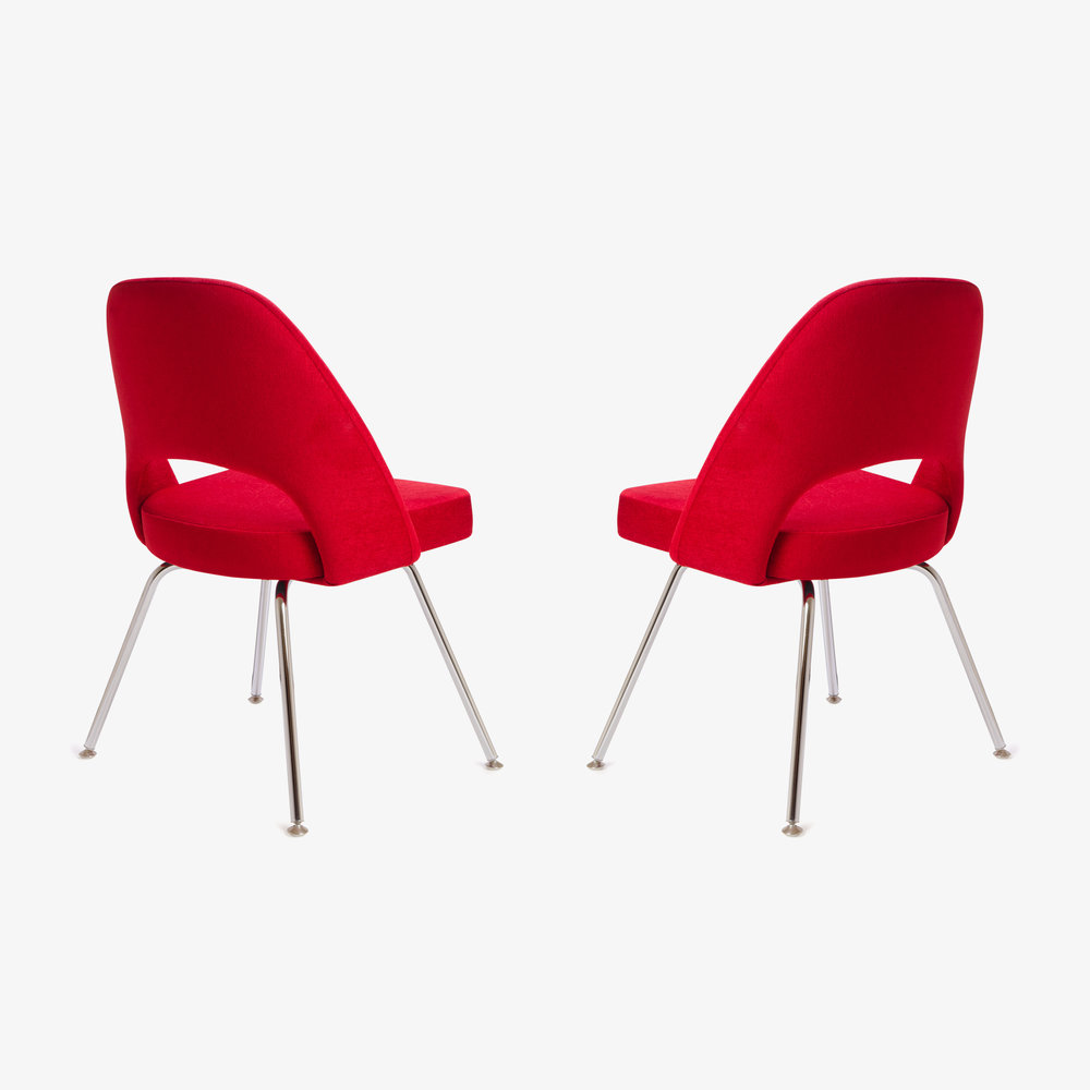 Saarinen Executive Armless Chair in Fire Red, Pair (1 of 1)4.jpg
