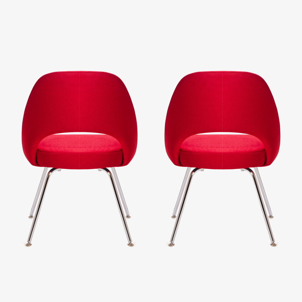 Saarinen Executive Armless Chair in Fire Red, Pair (1 of 1)5.jpg