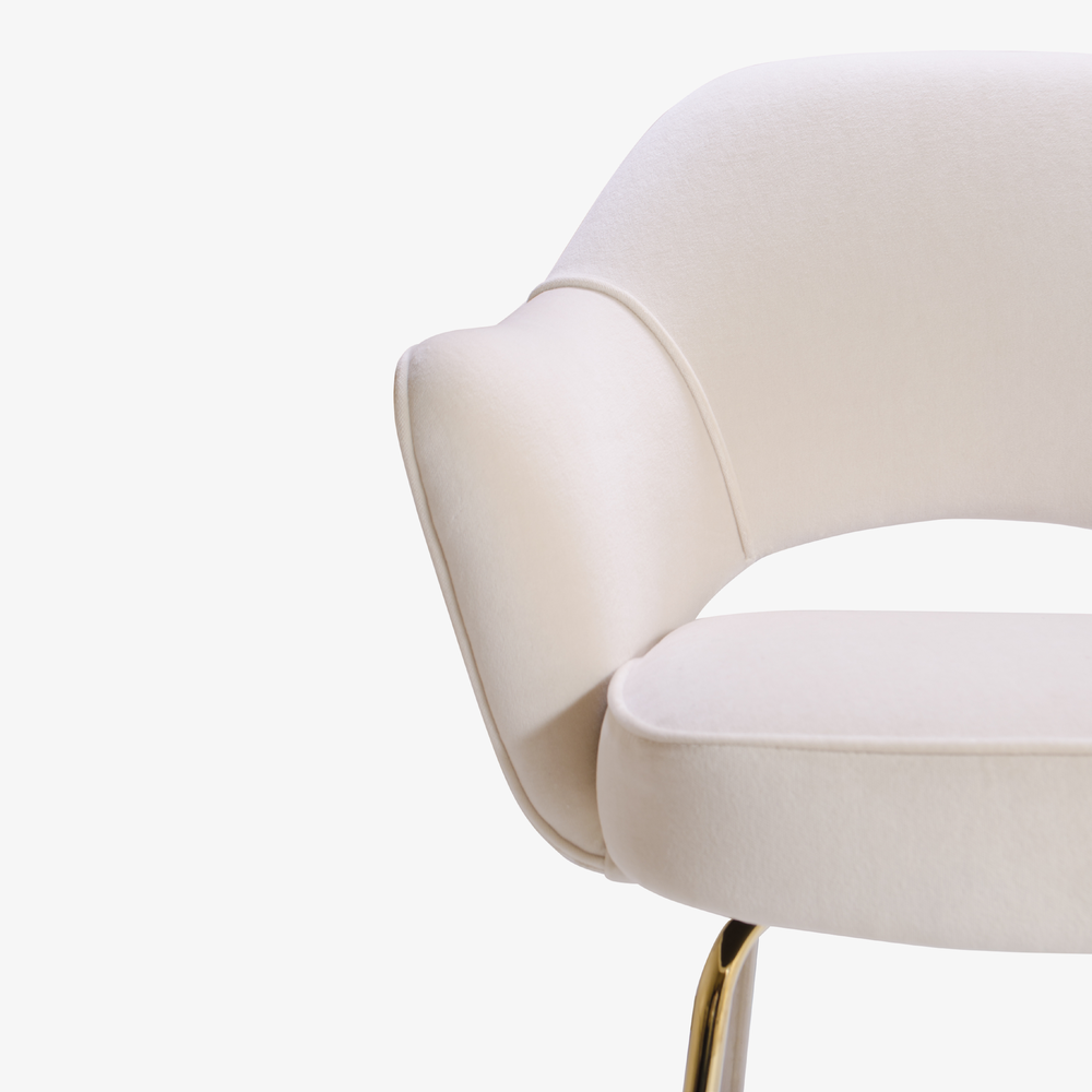 Knoll Saarinen Executive Arm Chair in Velvet, 24k Gold Edition