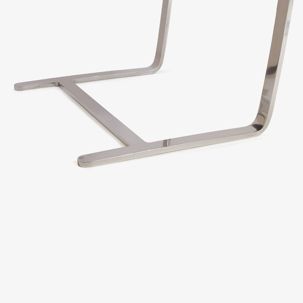 Mies van der Rohe for Knoll Brno Flat-Bar Chairs in Cognac Leather8.png