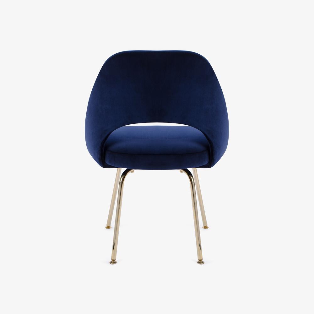 Knoll Saarinen Executive Armless Chair Italian Velvet, 24k Gold Edition