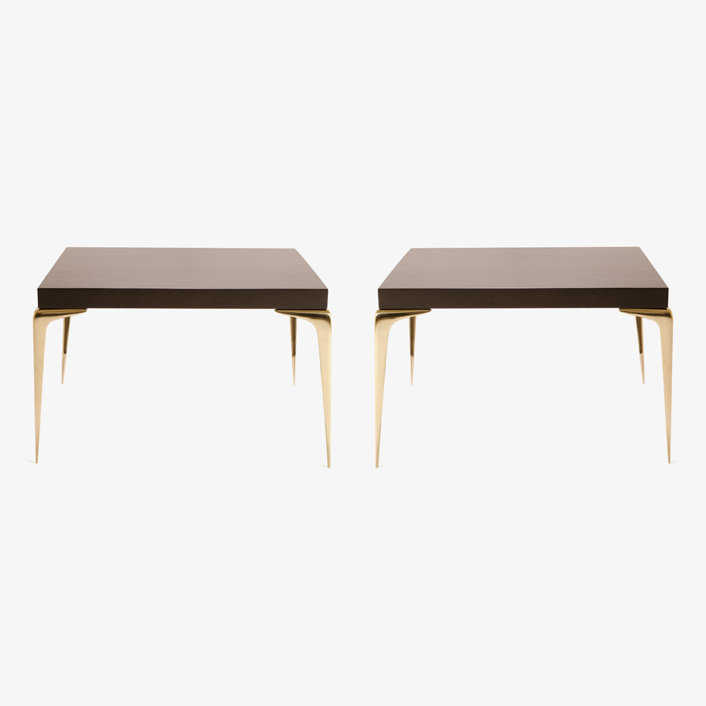 Montage Colette Brass Occasional Tables in Walnut