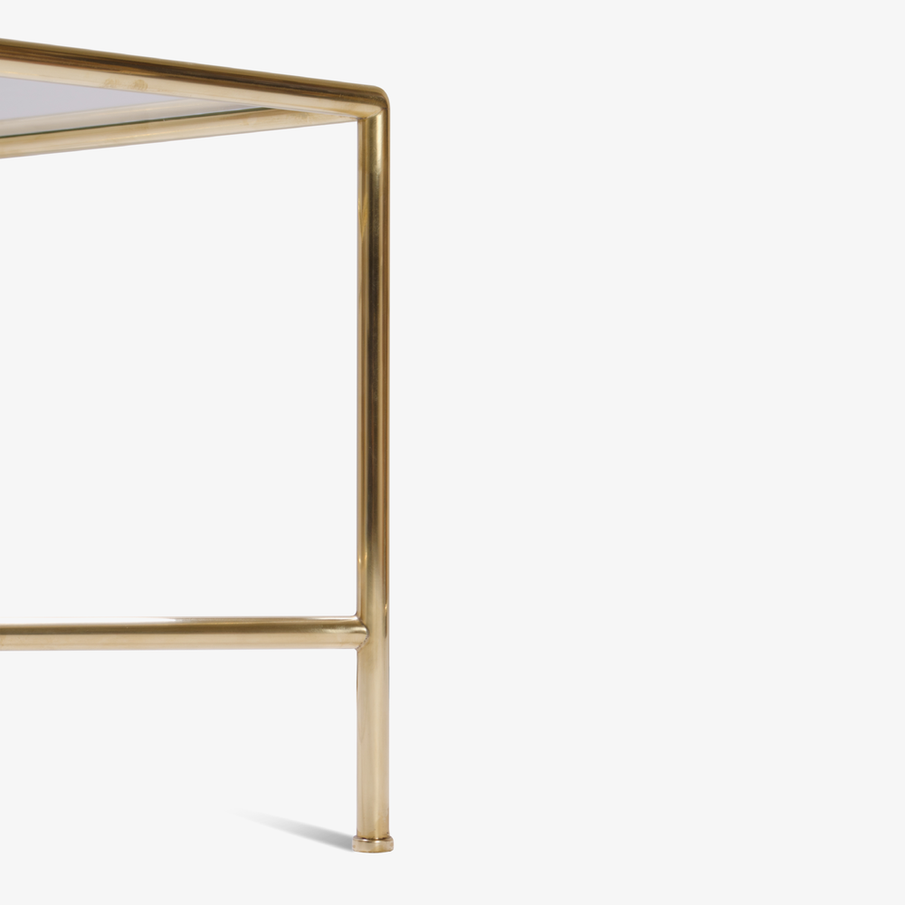 Tubular Brass Cocktail Table