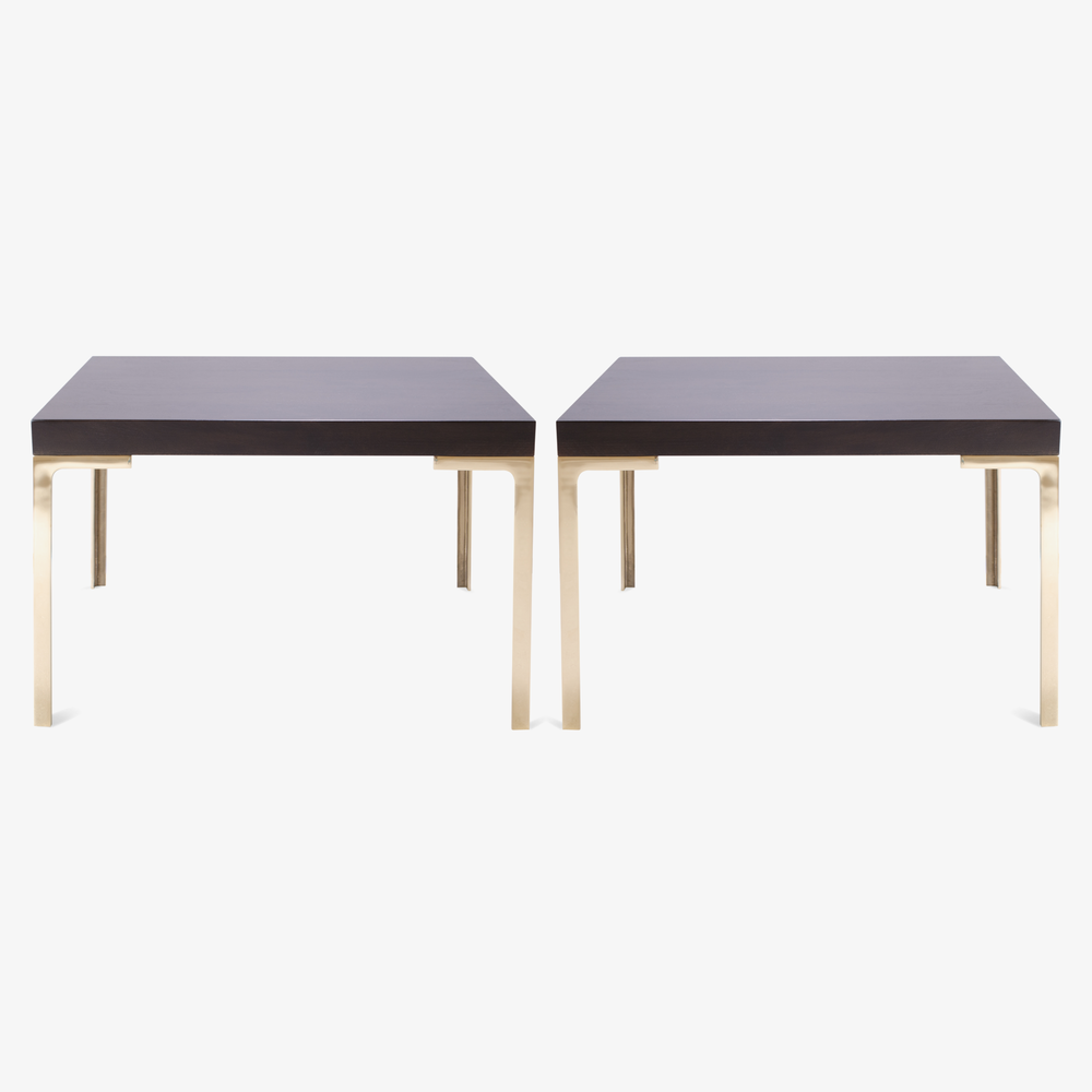 Montage Astor Brass Occasional Tables in Walnut