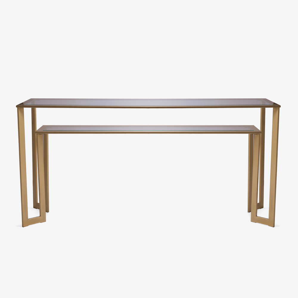 Gilt Two-Tier Geometric Console.png