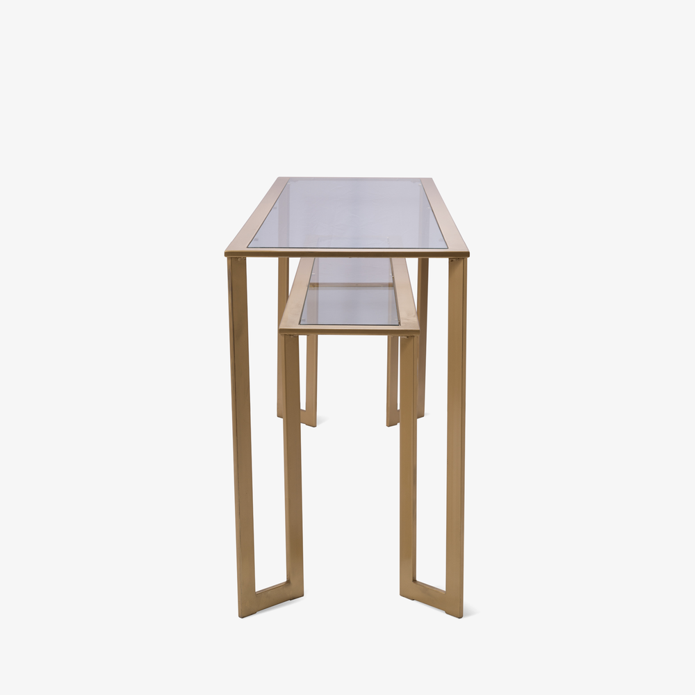 Gilt Two-Tier Geometric Console3.png