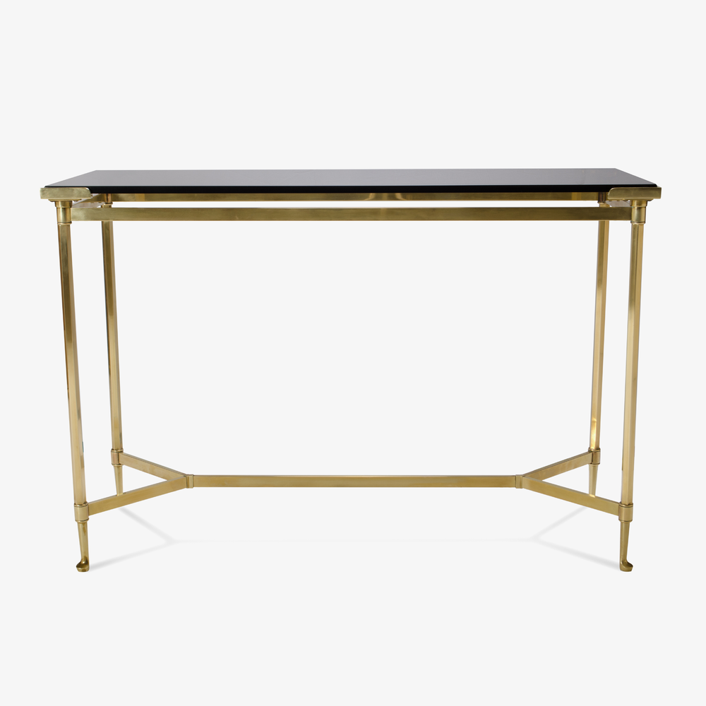 French Brass Console with Floating Smoked Glass.png