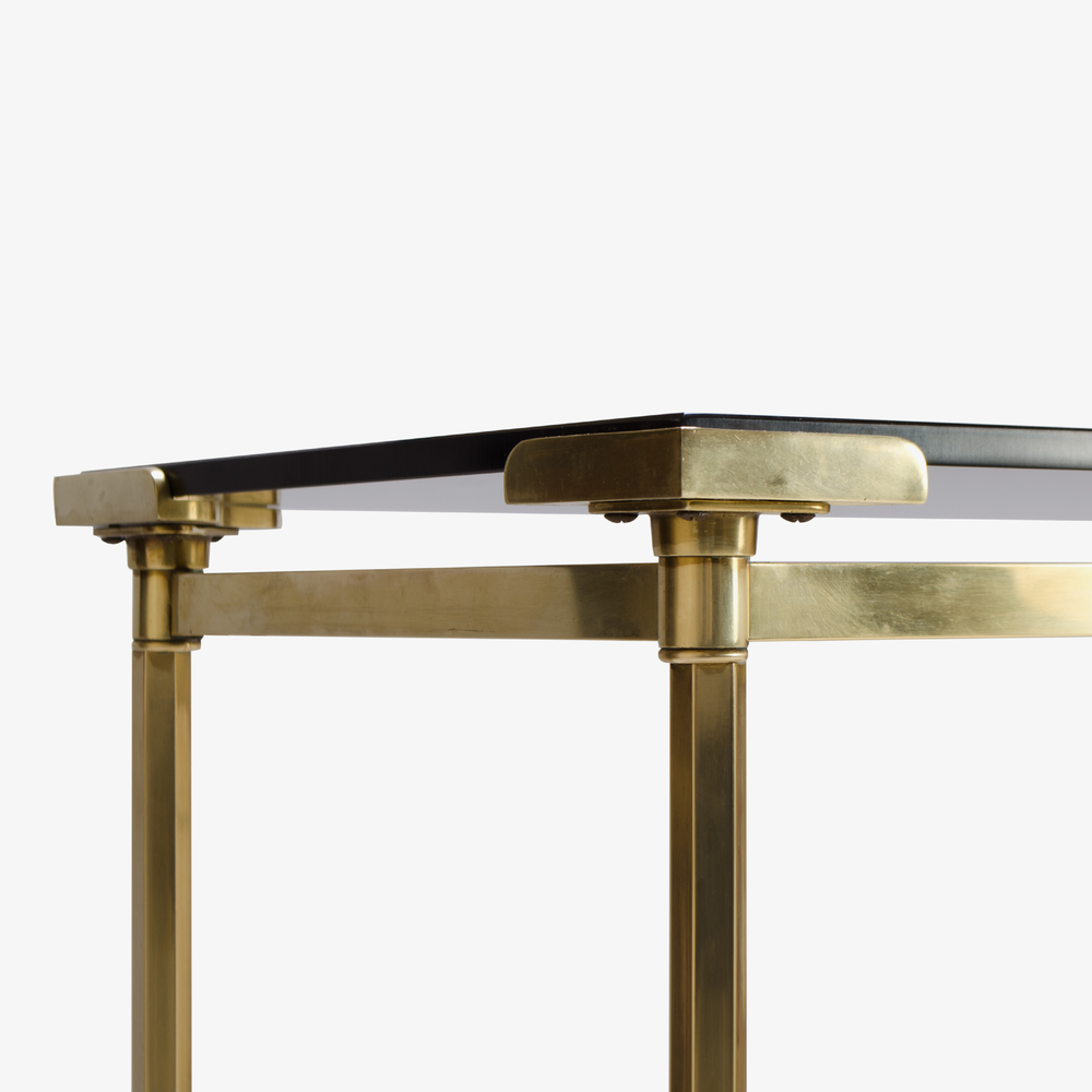 French Brass Console with Floating Smoked Glass5.png