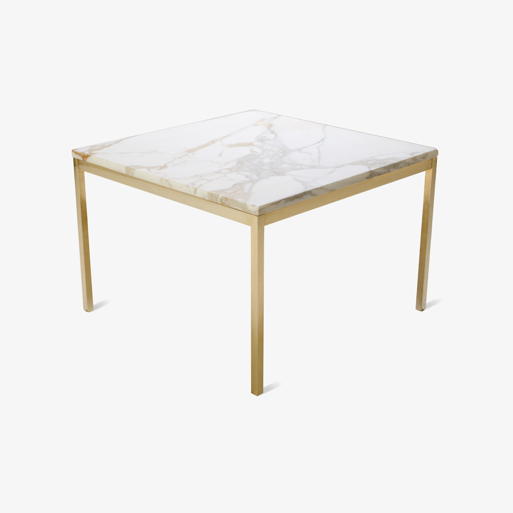 Florence Knoll Coffee Table with Calacatta Marble, 24k Gold Edition2.png