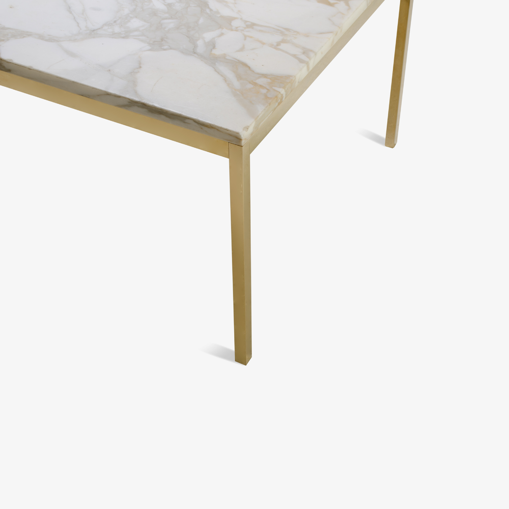 Florence Knoll Coffee Table with Calacatta Marble, 24k Gold Edition3.png