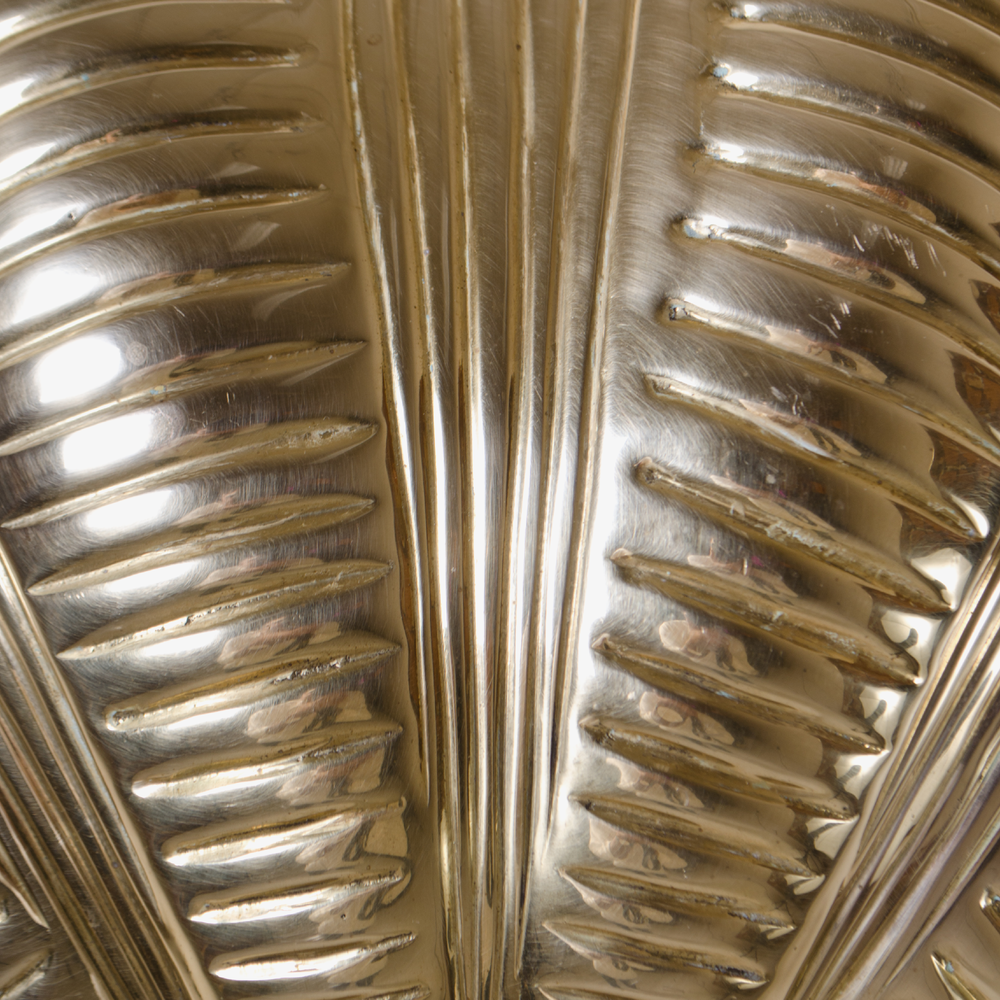 Italian Brass Scallop Design Sconces
