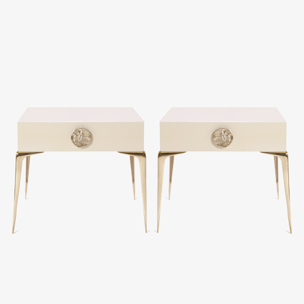 Montage Colette Petite Brass Nightstands in Lacquer