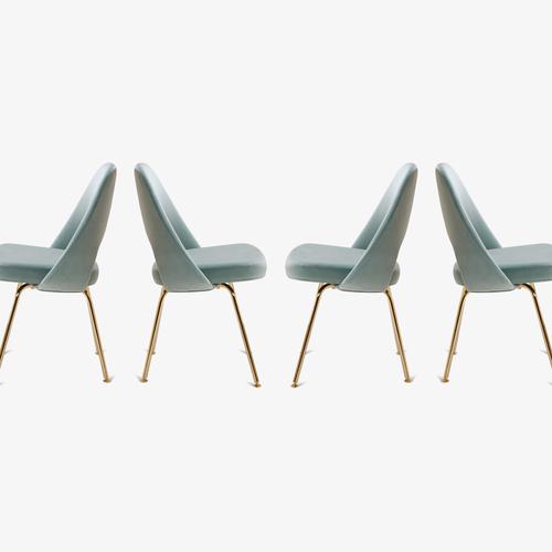 armless executive chair. Knoll Saarinen Executive Armless Chair Italian Velvet, 24k Gold Edition