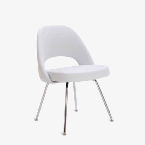 saarinen executive armless chair in luxe suede montage