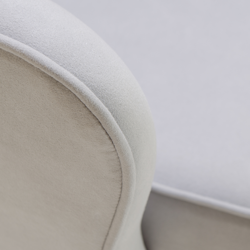 Saarinen Executive Arm Chair in Fog Luxe Suede, Swivel Base7.png