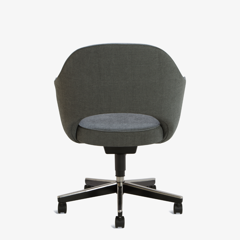 Knoll Saarinen Executive Arm Chair in Fabric, Swivel Base
