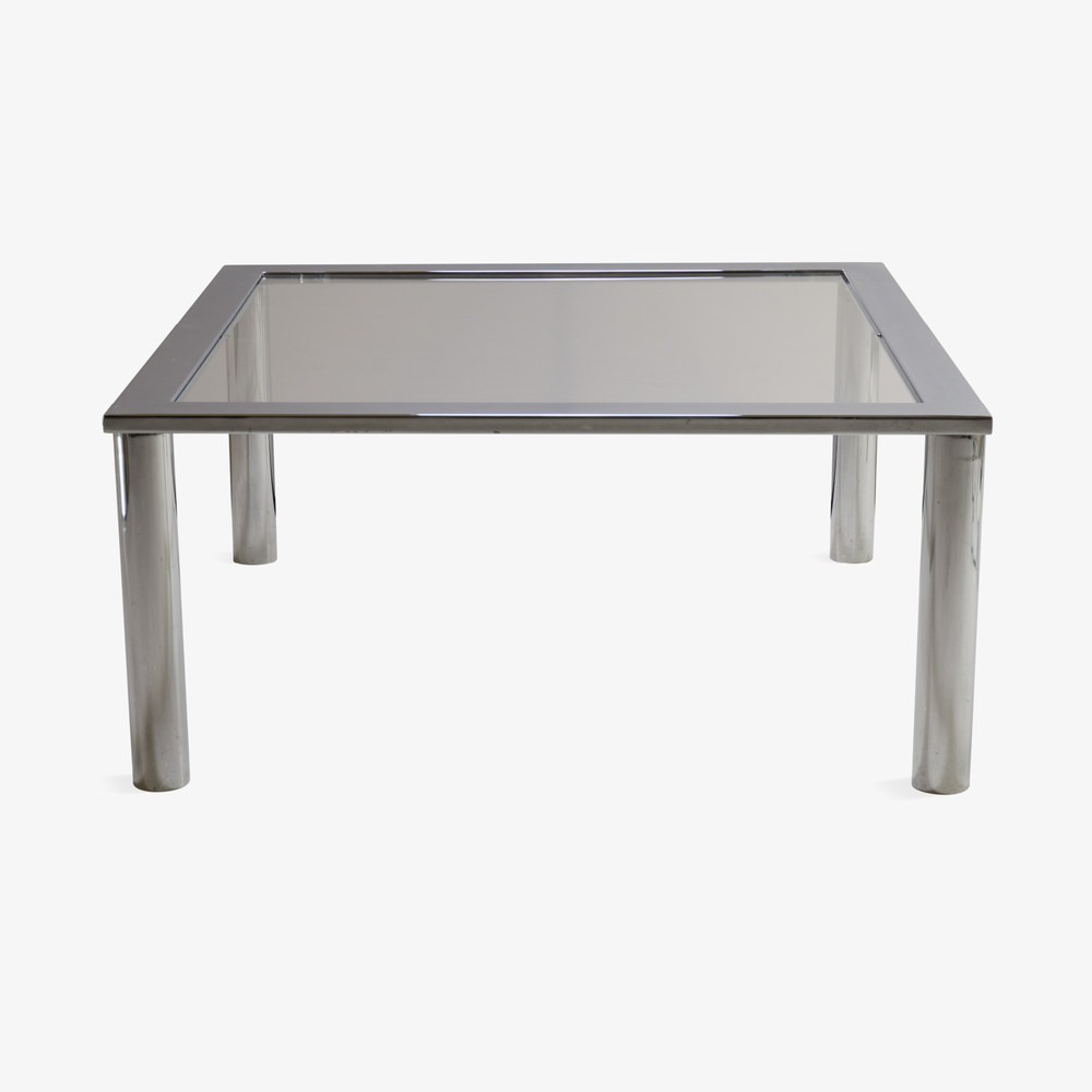 Chrome Cocktail Table in the Style of Pace.png